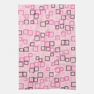 Regalo rosado retro de la toalla de cocina de la