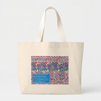 Regalo simbólico del texto del rezo sánscrito del bolsa tela grande