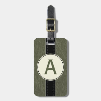 Regalo verde de la etiqueta de la maleta del