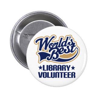 Regalo voluntario de la biblioteca chapa redonda de 5 cm