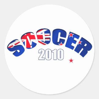 Regalos 2010 del fútbol de Nueva Zelanda del Pegatina Redonda
