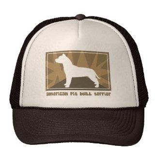 Regalos americanos terrosos de Terrier de pitbull Gorro De Camionero
