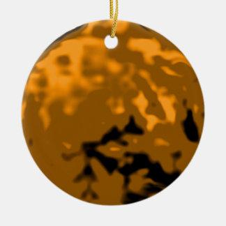 Regalos anaranjados de Zazzle del MUSEO del Adorno Navideño Redondo De Cerámica