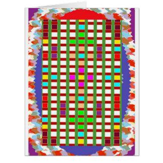 Regalos artísticos ajustados decorativos de los sa tarjeta de felicitación grande