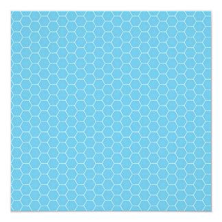Regalos azules claros y blancos del modelo del invitación 13,3 cm x 13,3cm
