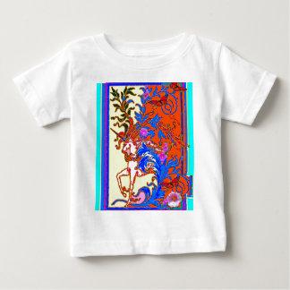 Regalos blancos y azules clásicos del unicornio camiseta para bebé