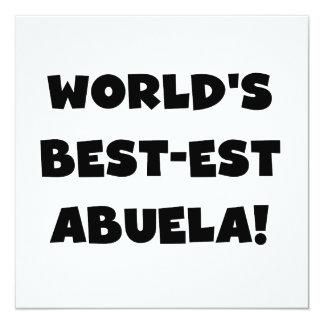 Regalos blancos y negros del Mejor-est Abuela del Invitación 13,3 Cm X 13,3cm