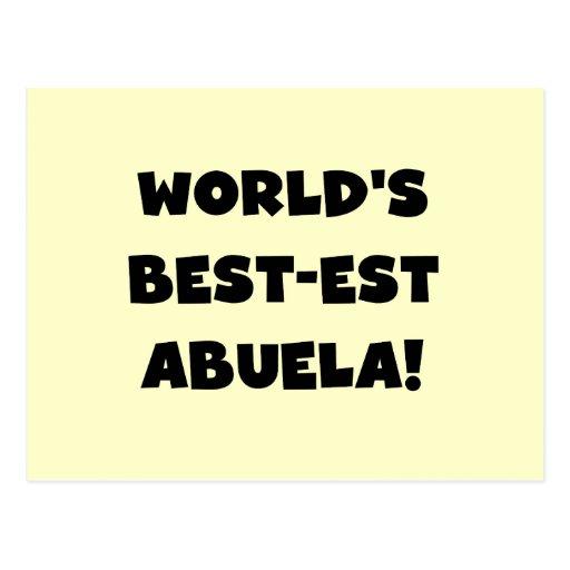 Regalos blancos y negros del Mejor-est Abuela del  Postales