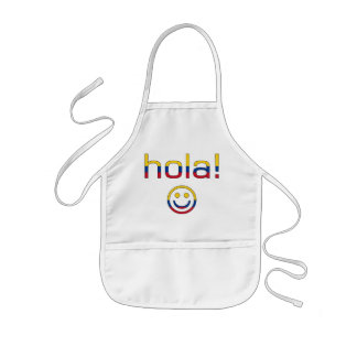 Regalos colombianos: Hola/Hola + Cara sonriente Delantales