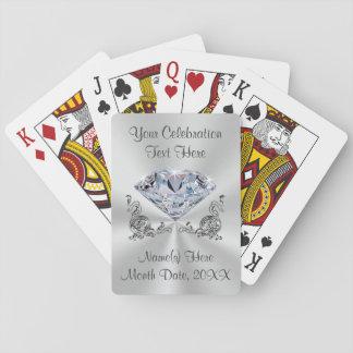 Regalos de boda personalizados diamante para las barajas de cartas