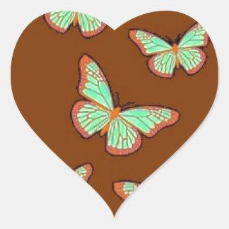 Regalos de Brown de las mariposas del verde de jad