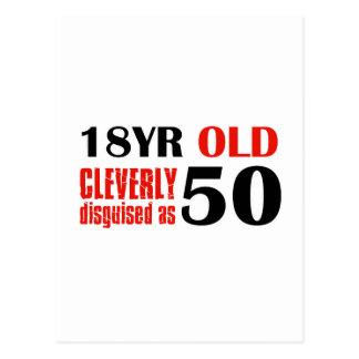Regalos de cumpleaños 18 años chistosos postal