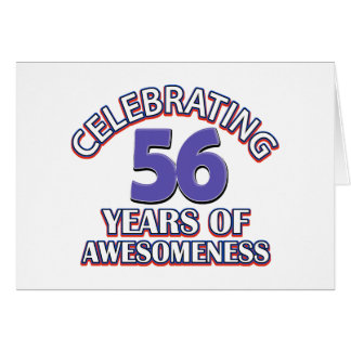 regalos de cumpleaños 56 años tarjeta