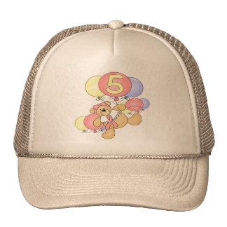 Regalos de cumpleaños del oso de los chicas 5tos gorras de camionero