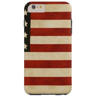 REGALOS de la bandera americana del vintage Funda De iPhone 6 Plus Tough