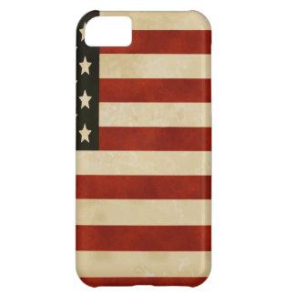 REGALOS de la bandera americana del vintage Funda Para iPhone 5C