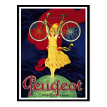 Regalos de la bicicleta del vintage - ciclos Peuge Postales