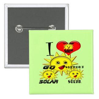 Regalos de la energía solar y camiseta promocional chapa cuadrada 5 cm