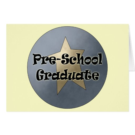 Regalos de la graduación del preescolar tarjetas