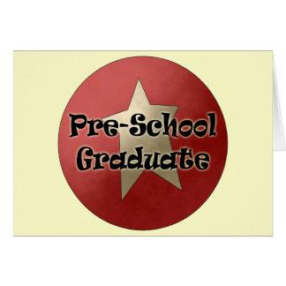 Regalos de la graduación del preescolar tarjeta