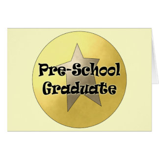 Regalos de la graduación del preescolar felicitación
