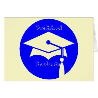 Regalos de la graduación del preescolar felicitacion