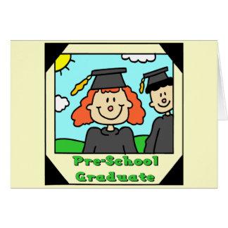 Regalos de la graduación del preescolar tarjetón
