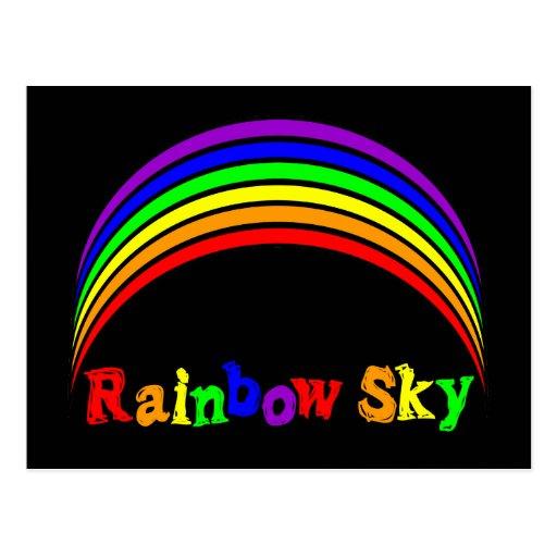 Regalos de la ropa y del arco iris del cielo del a postales