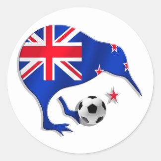 Regalos de la taza del equipo de fútbol del jugado etiquetas redondas