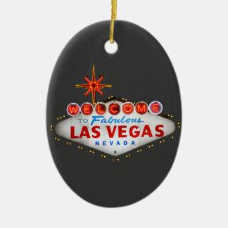Regalos de Las Vegas Adorno Ovalado De Cerámica