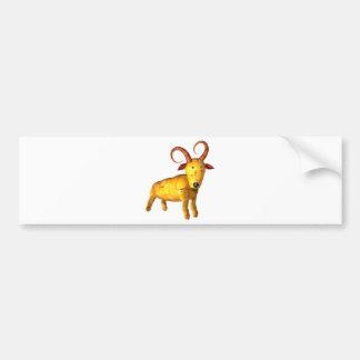 regalos de madera de la amistad de la cabra del es pegatina de parachoque