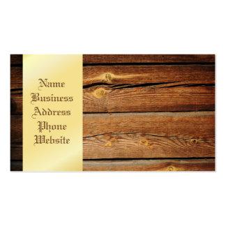 Regalos de madera del país del tablero de los tarjetas de visita