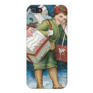 Regalos de Navidad del vintage iPhone 5 Carcasa
