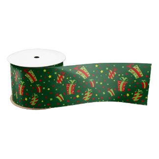 Regalos de Navidad rojos y verdes Lazo De Raso