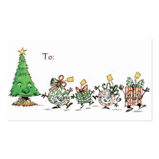 Regalos de Navidad y árbol del dibujo animado con