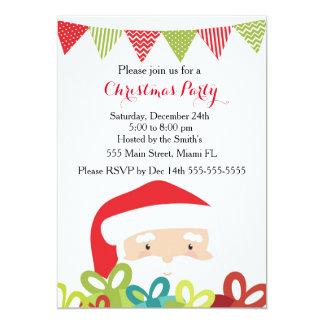 Regalos de Papá Noel de la invitación del navidad