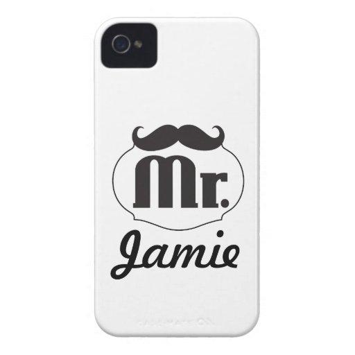 Regalos de Sr. Mustache Retro Vintage Hipster iPhone 4 Funda