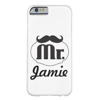 Regalos de Sr. Mustache Retro Vintage Hipster Funda Para iPhone 6 Barely There
