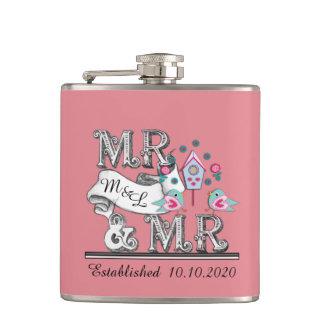 Regalos de Sr. y de boda de Sr. Personalized Gay Petaca
