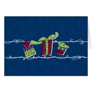 Regalos de vacaciones felices tarjeta de felicitación