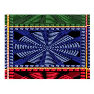 REGALOS decorativos coloridos del arte del botón Postal