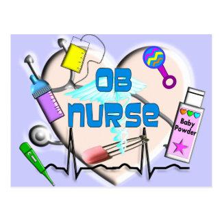 Regalos del arte de la enfermera de OB Postal