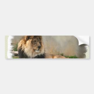 Regalos del arte de los amantes del león pegatina para coche