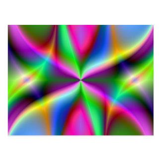 Regalos del arte del fractal del arco iris de la postal