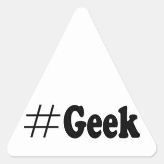 Regalos del arte del friki de Hashtag Pegatina Triangular