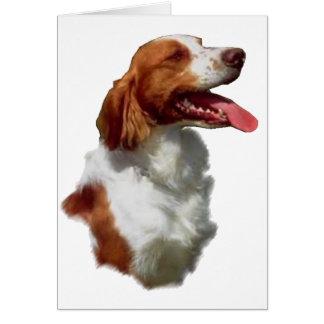 Regalos del arte del perro de aguas de Bretaña Tarjeta De Felicitación