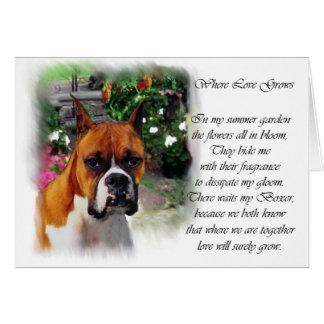 Regalos del arte del perro del boxeador tarjeta de felicitación