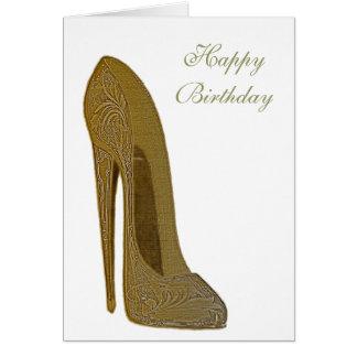 Regalos del arte del zapato del tacón alto del tarjeta de felicitación