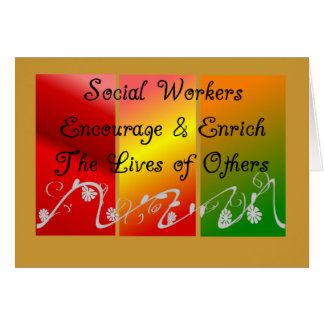 Regalos del asistente social tarjeta de felicitación
