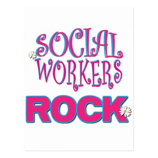 Regalos del asistente social tarjetas postales